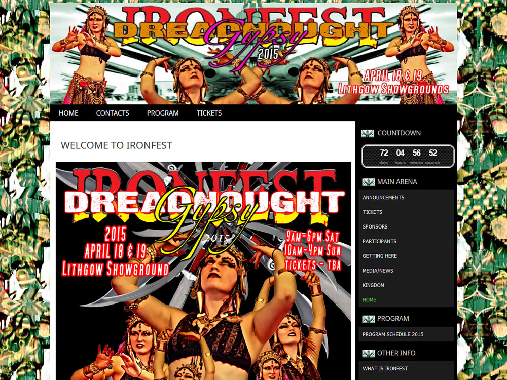 Ironfest Blog Theme
